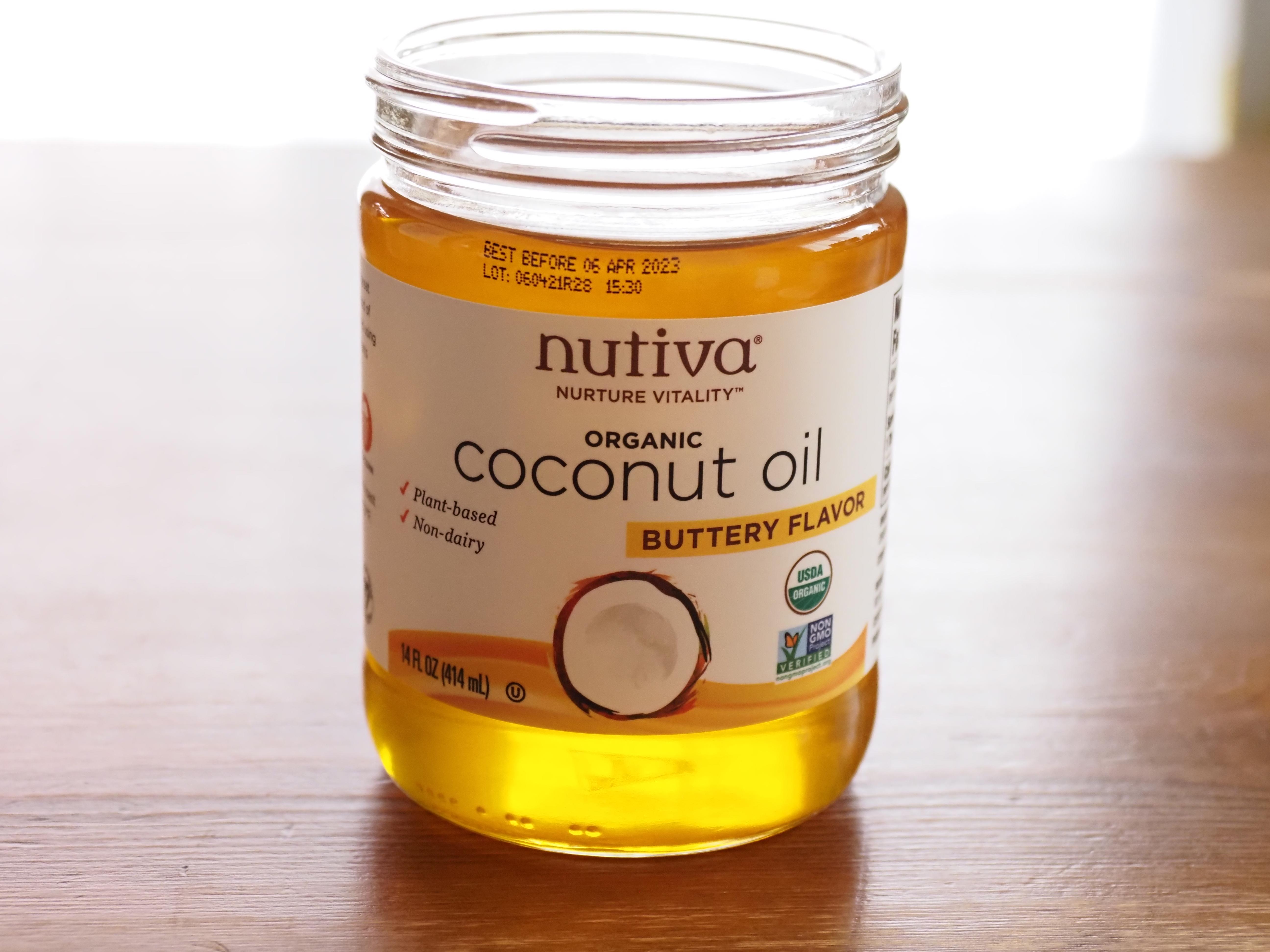 【iHarb(アイハーブ)】Nutiva, オーガニックココナッツオイル、バターフレーバー、414 mlレビュー